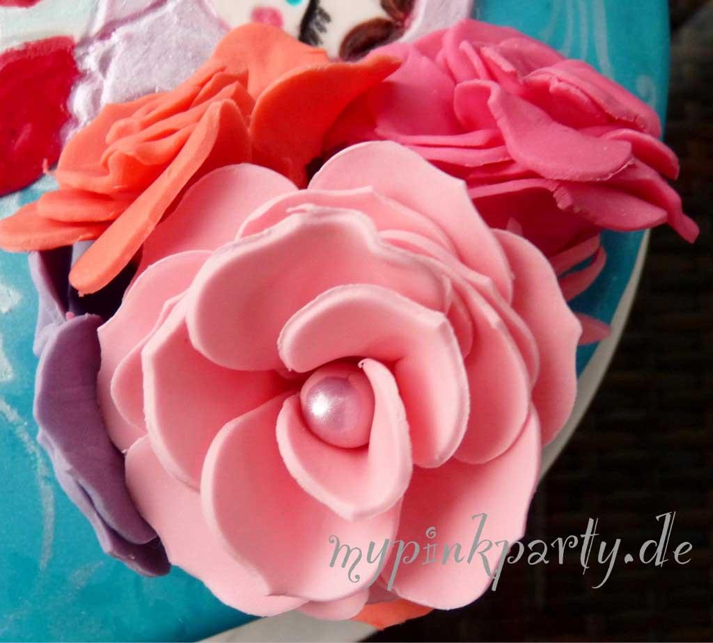 Blütenrosen aus Fondant