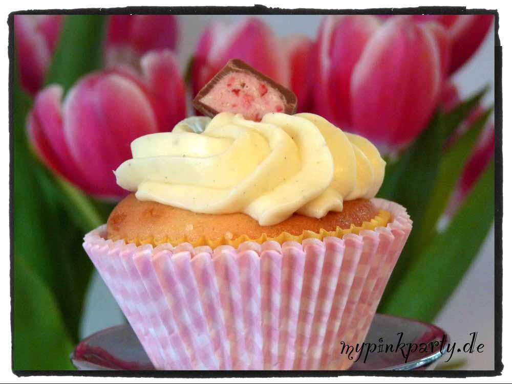 Cupcake mit Erdbeerschoko