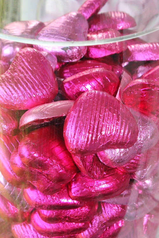 Schokolade Herzen Pink