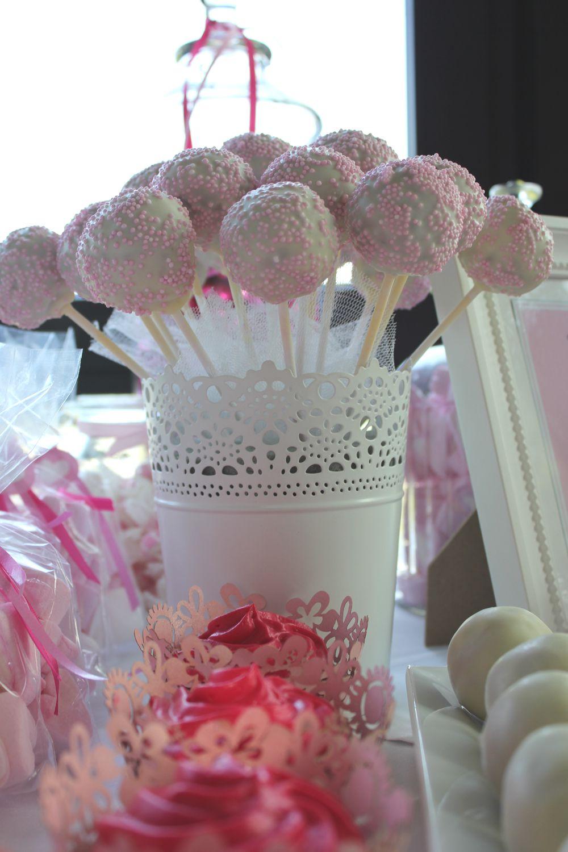 Sweet table Hochzeitstisch Pinks