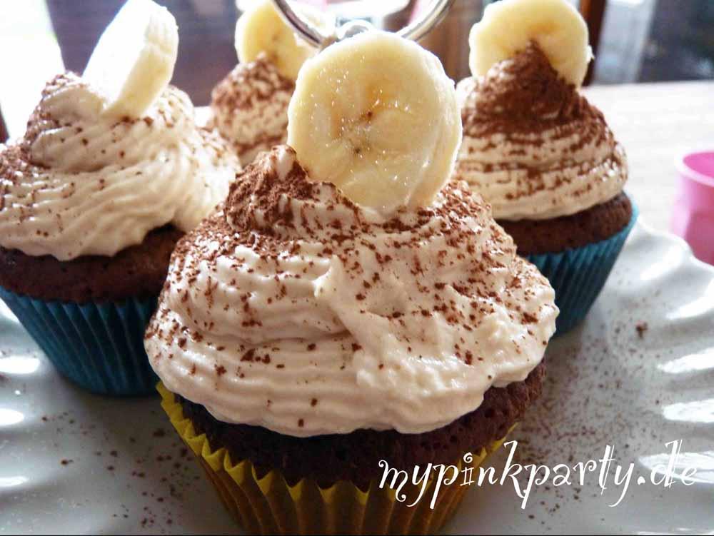 Cupcake mit Bananen-Topping