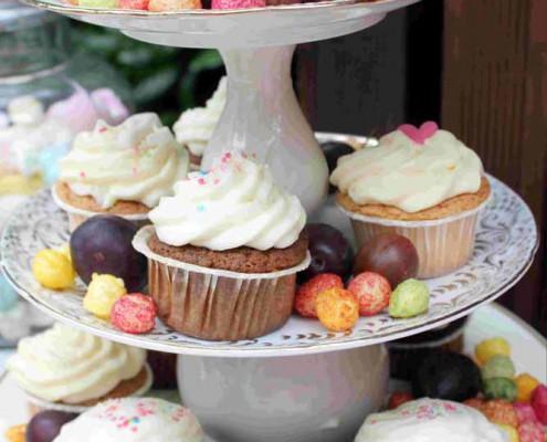 Karotten Cupcake Vanille Topping