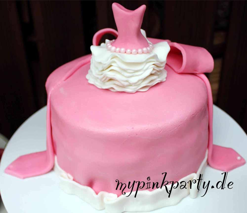 Birthday Cake With Fondant For Girls