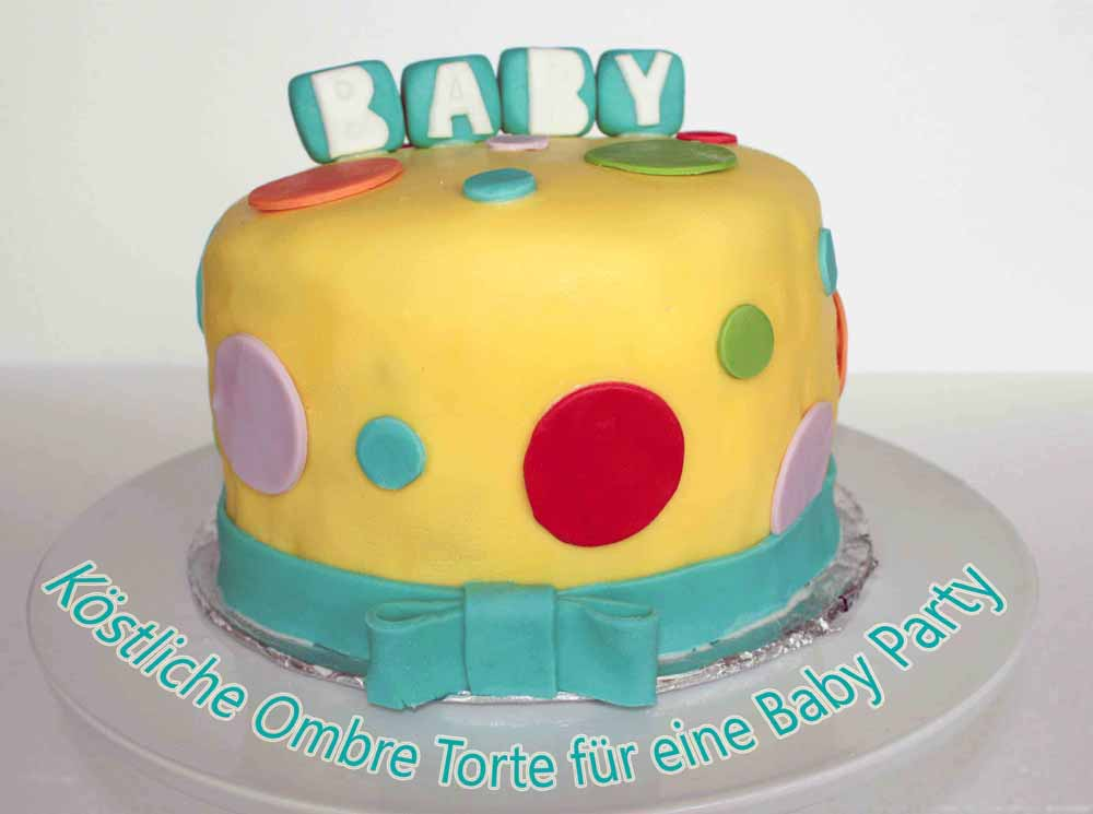 baby torte f r eine baby shower party. Black Bedroom Furniture Sets. Home Design Ideas