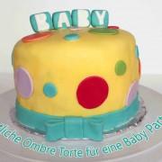 Ombre Torte für eine Baby Party