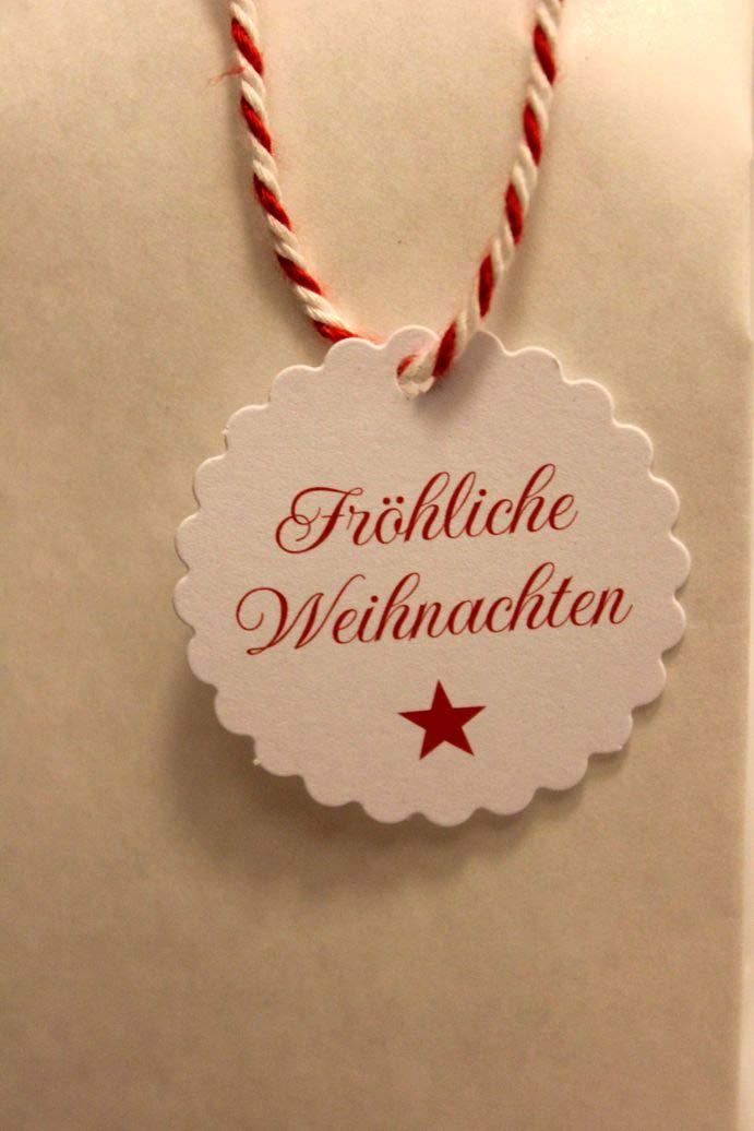Bedruckte Schilder zu Weihnachten