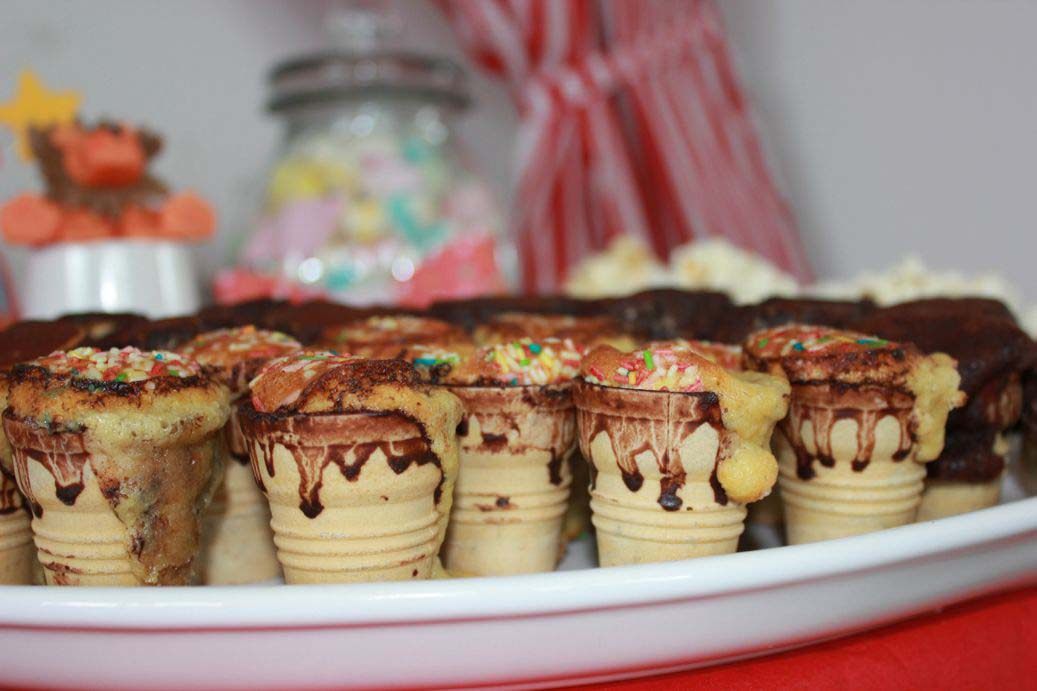 Muffins in Eishörnchen mini