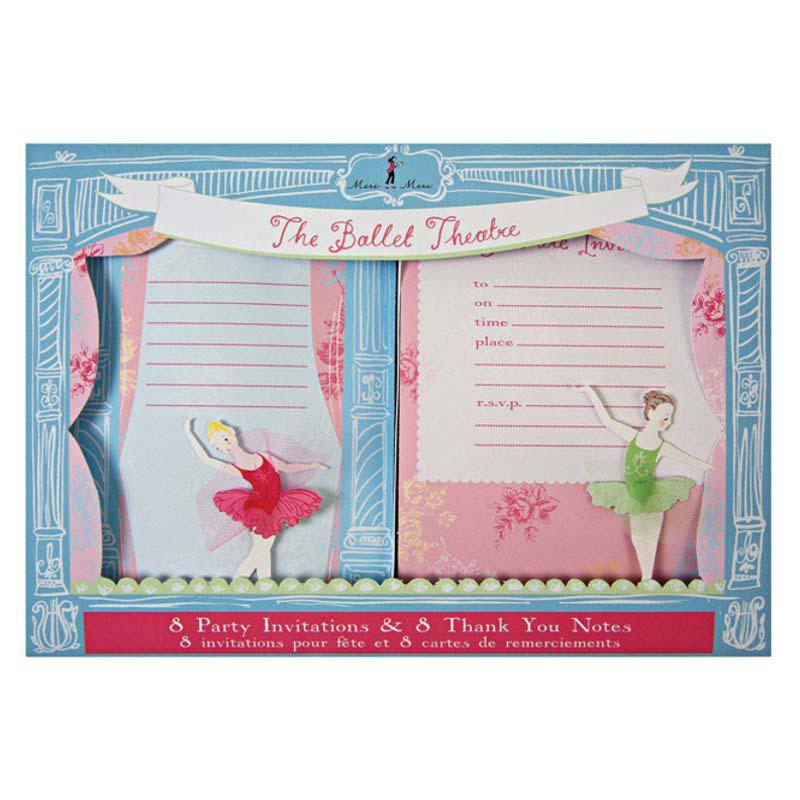 Einladungskarten Ballerina