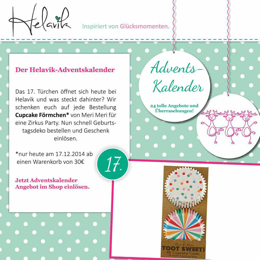 Cupcake Foermchen im Adventskalender