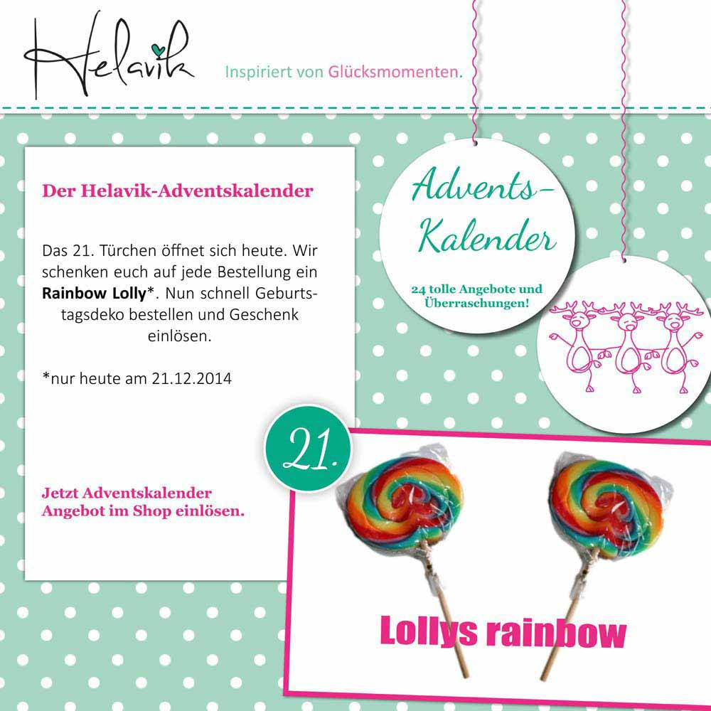 Lolly im Adventskalender