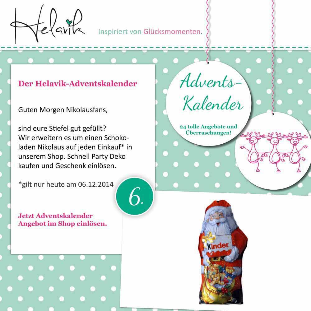 Schokoladen Nikolaus im Adventskalender