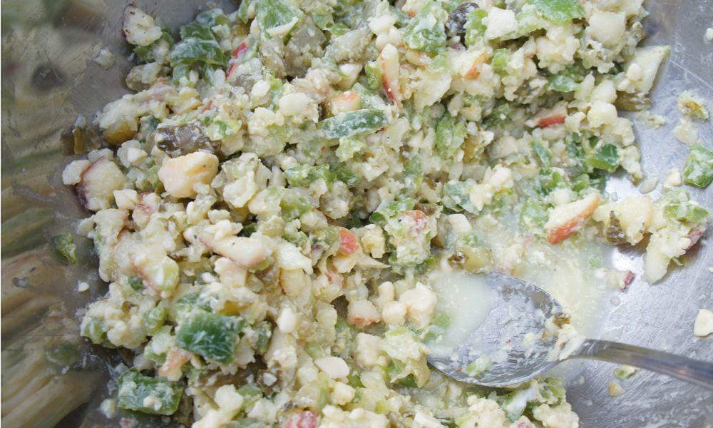 Paprika Käse Apfel Salat