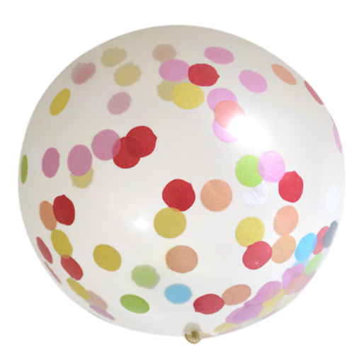 Luftballon mit Konfetti