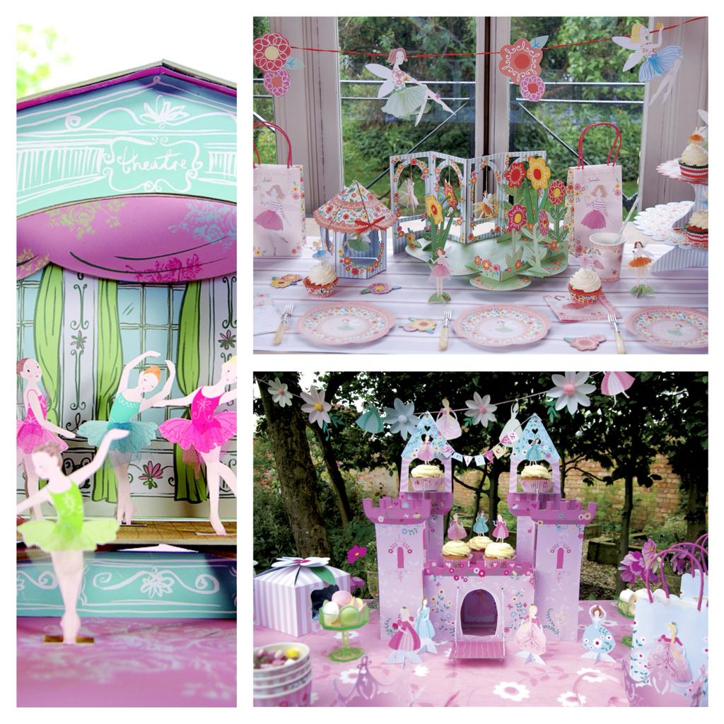 Centerpieces Tischdekoration für die Mädchen Prinzessin Schloss, Ballett Theater und Feenwald