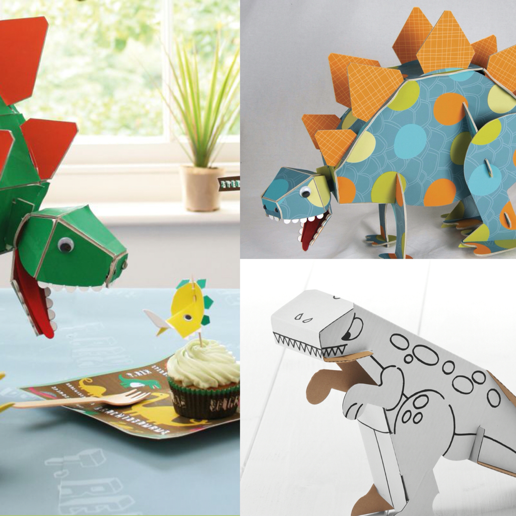 Centerpieces Dinosaurierer mit Sound sowie Dino zum basteln und ausmalen