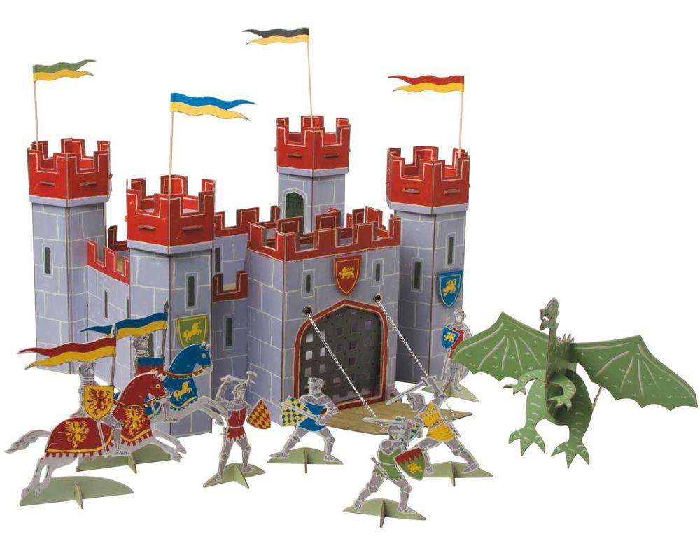 Centerpieces als Tischdekoration Ritterburg mit bösen Drachen und mutigen Rittern