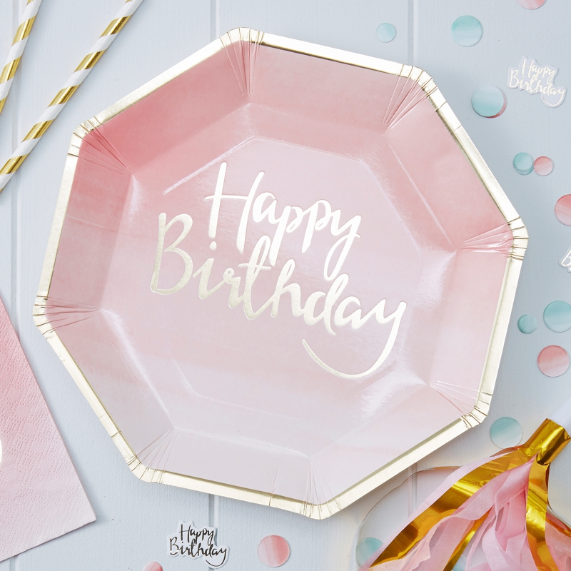 teller_rosa_ombre_groß_happy_birthday_902_8eckig