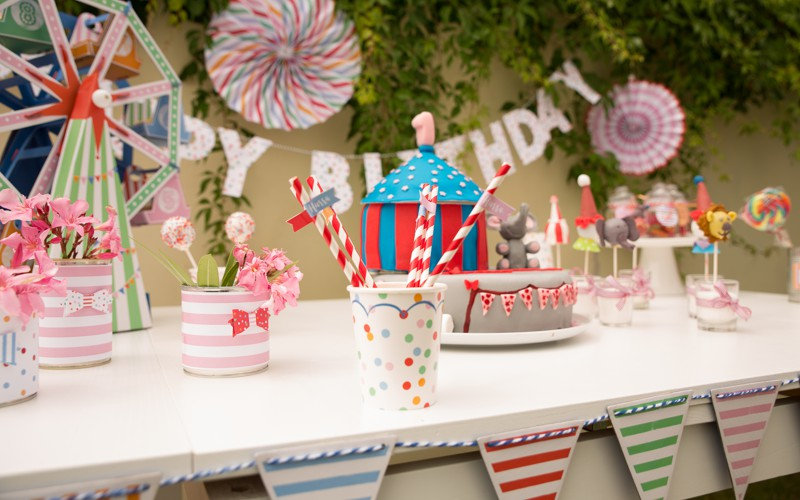 Sweet Table im Motto Zirkus Party