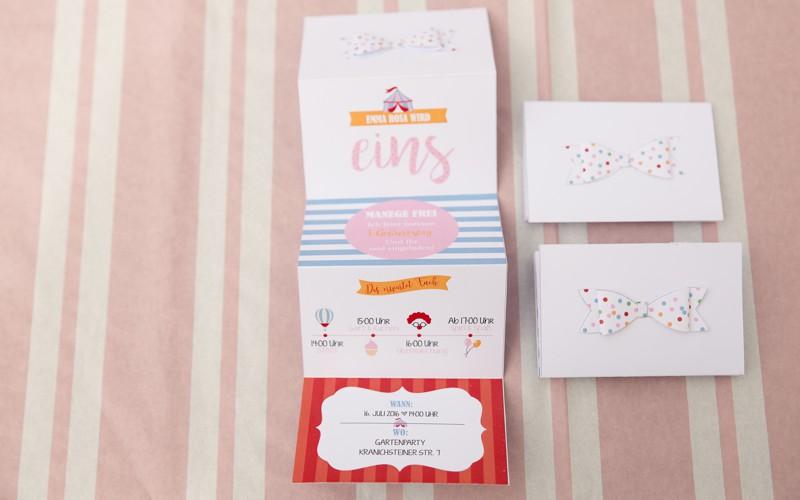 Personalisierte Einladung für Emmas Gäste