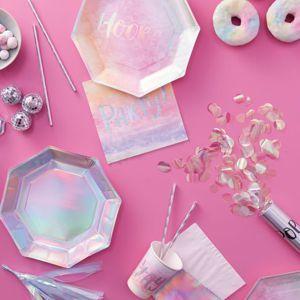 Regenbogen Pastell YAY in holografische Design