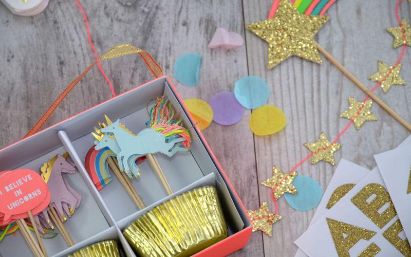 Cupcake Set Einhorn Motiv